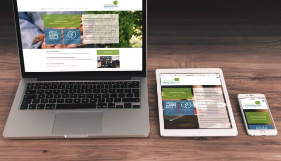 SOCENT website on laptop, tablet and mobile