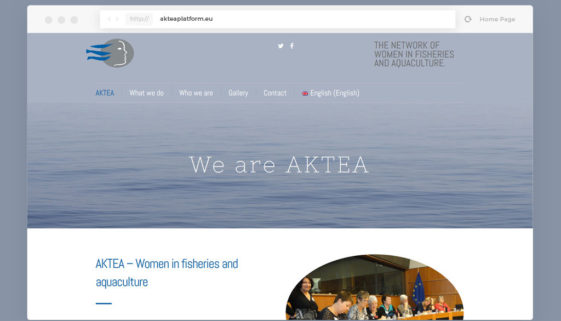 AKTEA Platform website - web design