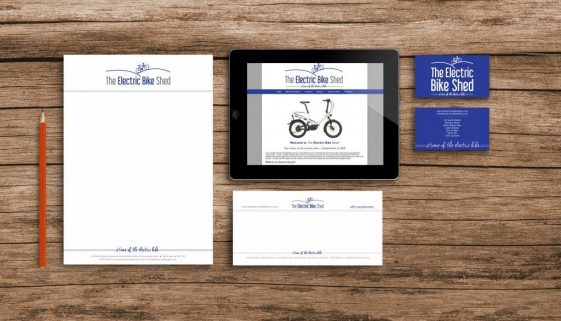 The electric bike shed stationary