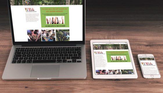 Greening wingrove website on desktop tablet and mobile